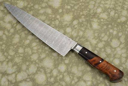Damascus Chef Knife (Gyuto) with Ironwood (8 2/3 in.)
