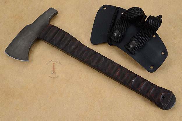Hammer Combat Axe with Sculpted Maple and Caswell Finish