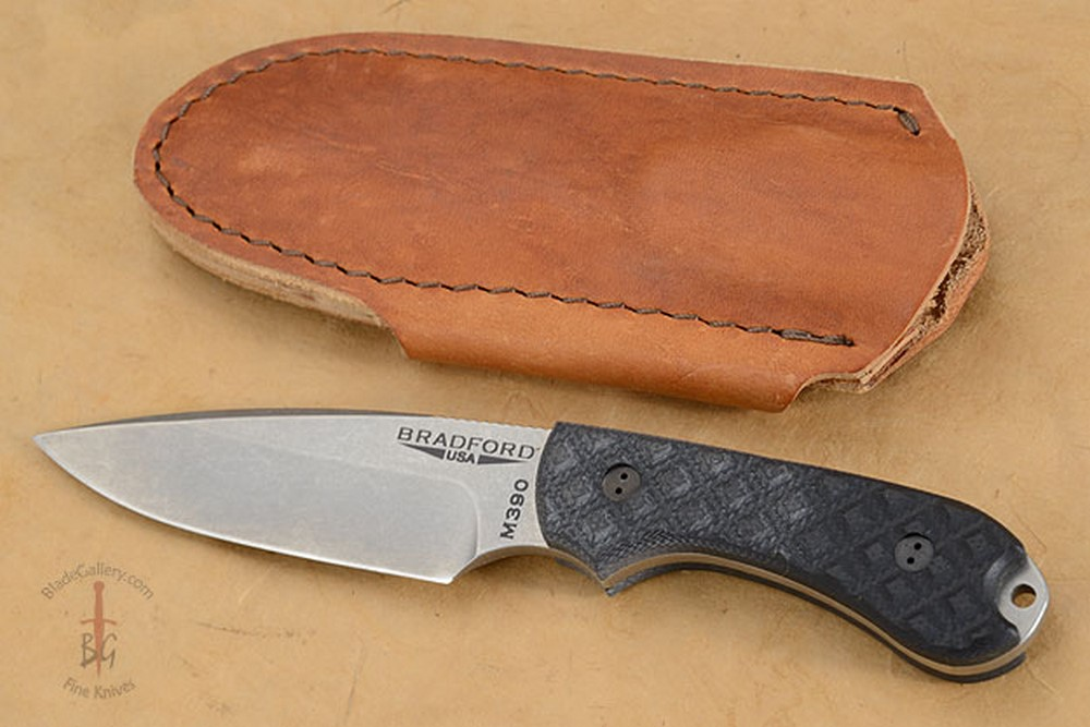 Guardian 3 - Black G10, Stonewash Blade, False Edge Grind