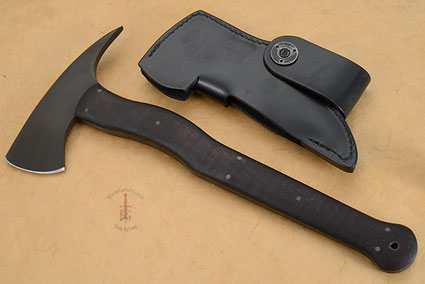 Wild Bill with Maple and Caswell Finish, Leather Sheath