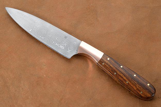 Utility/Slicer with Damascus and Ironwood