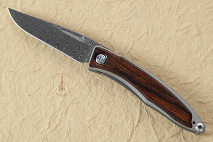 Mnandi with Cocobolo and Ladder Damascus