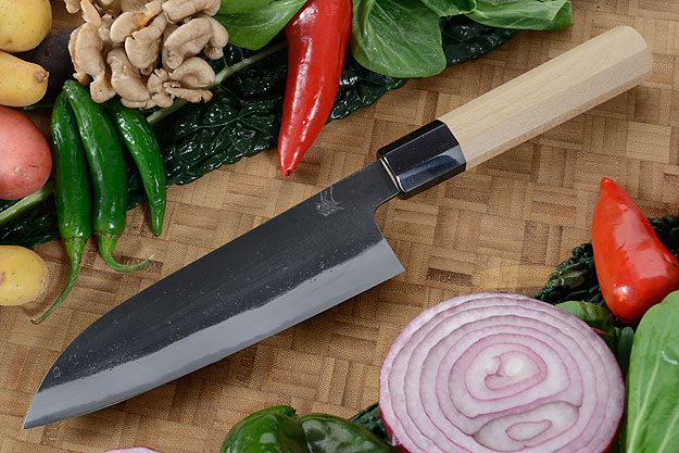 Chef's Knife (Santoku) - 6-1/2 in. (165mm) - Shirogami 2