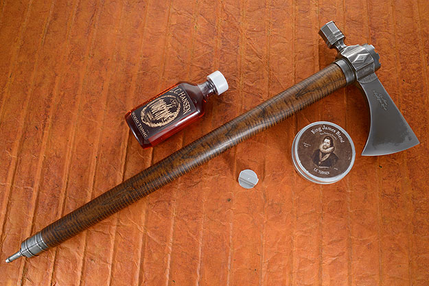 Forged Brick and Diamond Titanium Pipe Tomahawk
