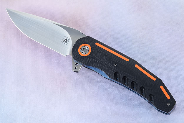 A3 Flipper with Black and Orange G10