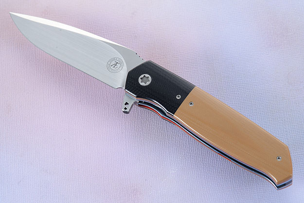 L36S Flipper with Coyote Brown and Black G10 (IKBS)