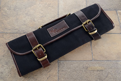 9 Slot Canvas Knife Roll - Black (CKR111)