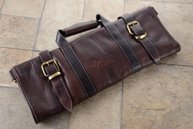 17 Slot Leather Knife Bag - Brown (LK125)
