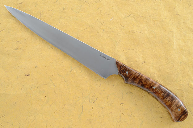 Carving Knife/Slicer (8 in) with Maple Burl