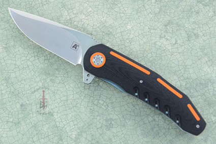 A3 Flipper with Black and Orange G10 (IKBS with Ceramic Bearings)
