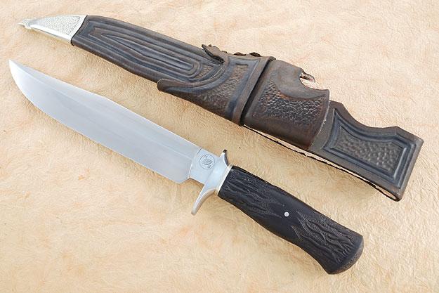 Carved Blackwood Hamon Fighter
