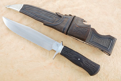 Carved Blackwood Hamon Fighter