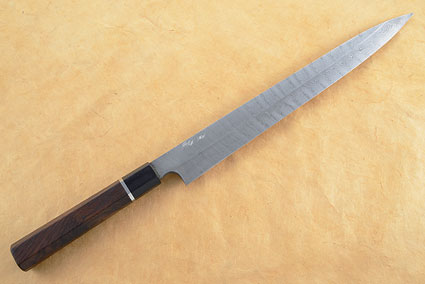 Yanagiba with Twist Pattern Damascus - 315mm (12 1/2 in.)