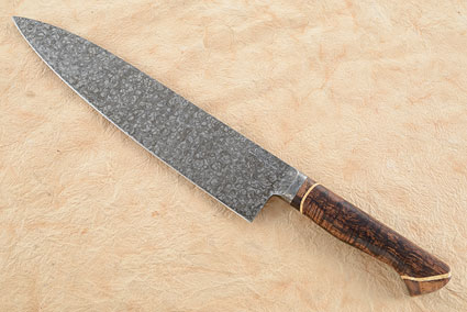 Chef's Knife with Curly Koa, Box Elder Burl and Curly Mango (9-3/4 in.)
