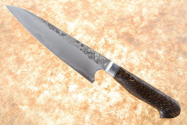 Chef's Knife (Gyuto) - Forge Finished San Mai with Black Palm (7-1/2