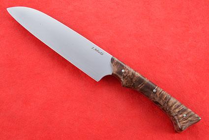 Chef's Knife - Santoku - (6-1/8 in.) with Buckeye Burl