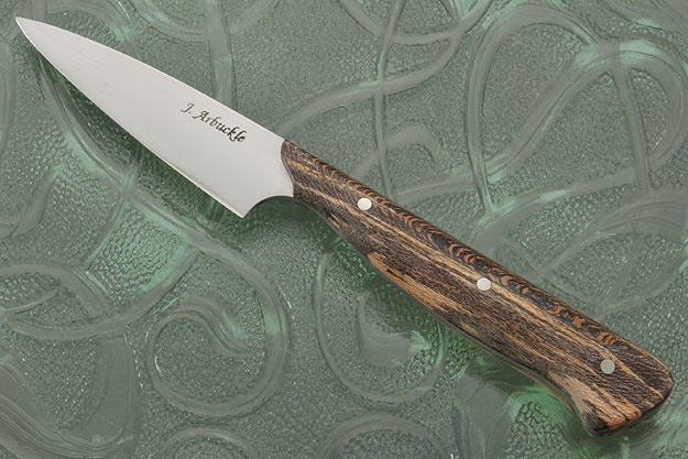 Paring Knife (3 in.) with Snake Skin Sycamore