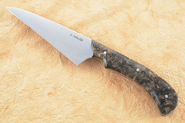 Wharncliffe Chef's Utility Knife (4-3/4 in) with Buckeye Burl