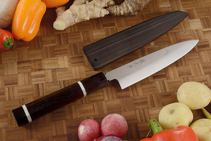 Mizu-Honyaki Utility Knife - Petty, 150mm (6 in.) with Saya