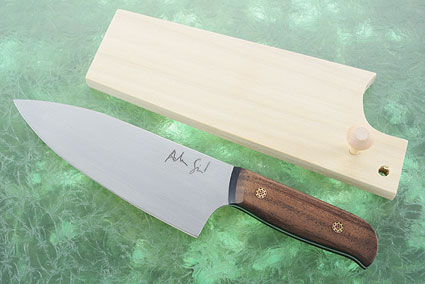Chef's Knife (5-3/4 in.) with Claro Walnut and Black G10