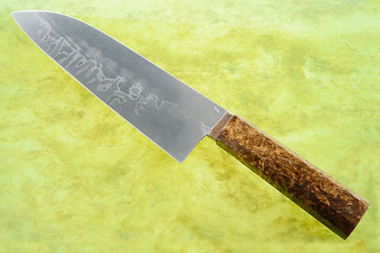 Santoku with San Mai and Myrtle Burl (7 1/8