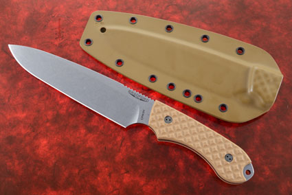 Guardian 6 - Coyote Brown G10, Stonewash Blade, Sabre Grind