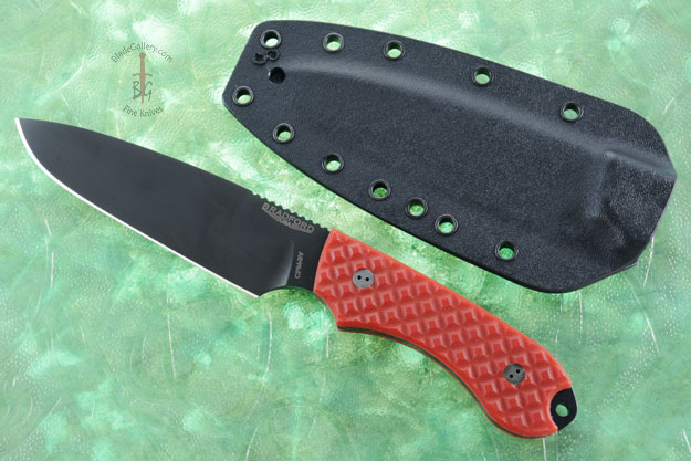 Guardian 5 - Red G10, DLC Blade, Sabre Grind