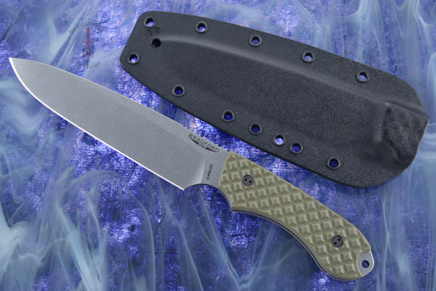 Guardian 6 - OD Green G10, Stonewash Blade, Sabre Grind