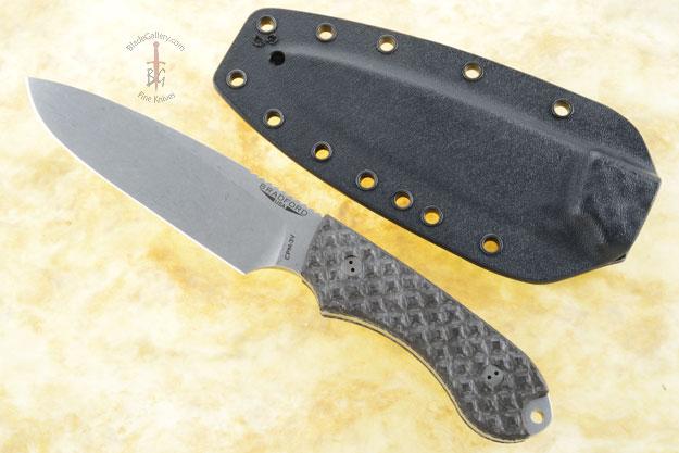 Guardian 5 - Carbon Fiber, Stonewash Blade, Sabre Grind