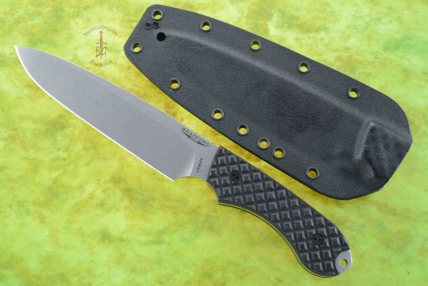 Guardian 6 - Black G10, Stonewash Blade, Sabre Grind