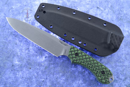 Guardian 6 - Toxic Green/Black G10, Stonewash Blade, Sabre Grind