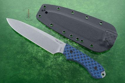 Guardian 6 - Black/Blue G10, Stonewash Blade, Sabre Grind