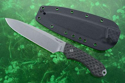 Guardian 6 - Carbon Fiber, Stonewash Blade, Sabre Grind