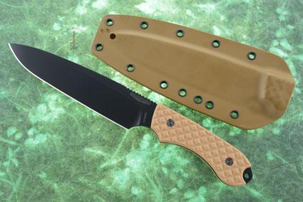 Guardian 6 - Coyote Brown G10, DLC Blade, Sabre Grind