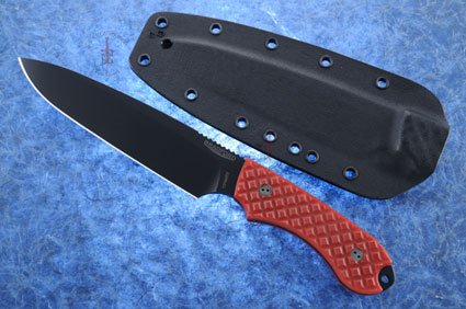 Guardian 6 - Red G10, DLC Blade, Sabre Grind