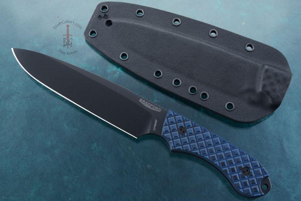 Guardian 6 - Black/Blue G10, DLC Blade, Sabre Grind.