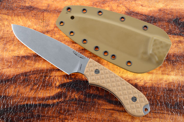 Guardian 5 - Coyote Brown G10, Stonewash Blade, Sabre Grind