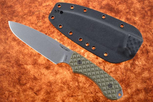 Guardian 5 - OD Green G10, Stonewash Blade, Sabre Grind