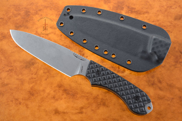 Guardian 5 - Black G10, Stonewash Blade, Sabre Grind