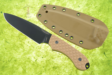 Guardian 5 - Coyote Brown G10, DLC Blade, Sabre Grind