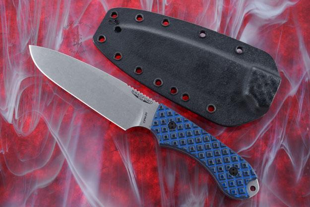 Guardian 5 - Black/Blue G10, Stonewash Blade, Sabre Grind