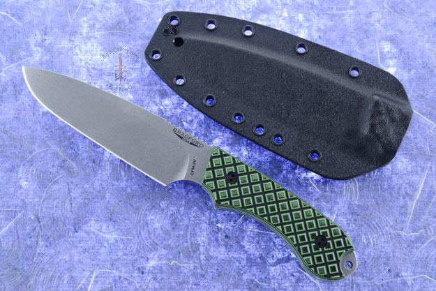 Guardian 5 - Toxic Green/Black G10, Stonewash Blade, Sabre Grind