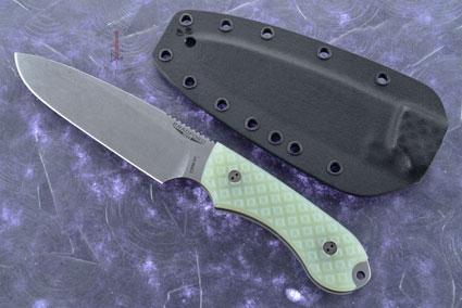 Guardian 5 - Ghost G10, Stonewash Blade, Sabre Grind