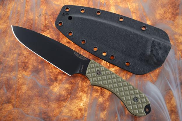 Guardian 5 - OD Green G10, DLC Blade, Sabre Grind