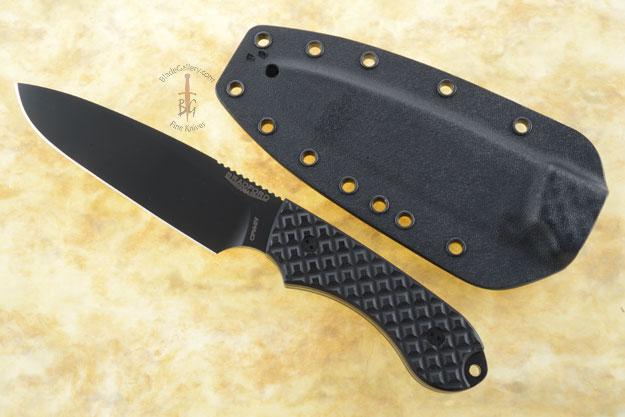 Guardian 5 - Black G10, DLC Blade, Sabre Grind