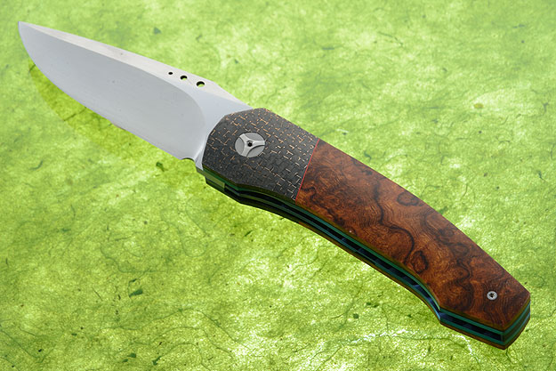 Tactical Front Flipper with Desert Ironwood and Lightning Strike Carbon Fiber (IKBS)