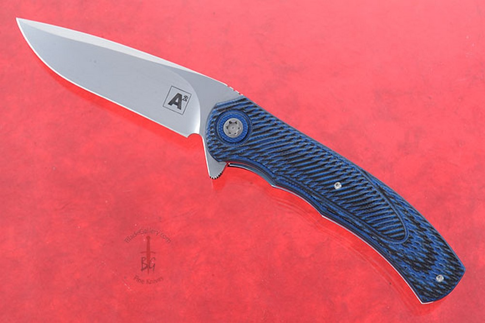 A4 Flipper with 3D Blue and Black G10 (IKBS)