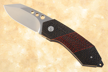 Tactical FLF with Black and Red Lightning Strike Carbon Fiber and MoonGlow II (IKBS)