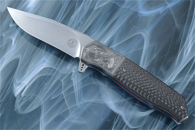 L36M Flipper with Carbon Fiber and Engraved Zirconium (IKBS)