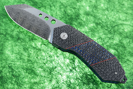 Tactical FLF with Black and Blue Silver Strike Carbon Fiber and MoonGlow II (IKBS)